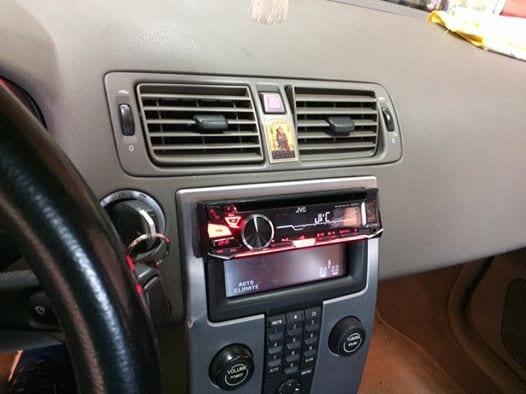 Τοποθέτηση JVC σε Volvo S40